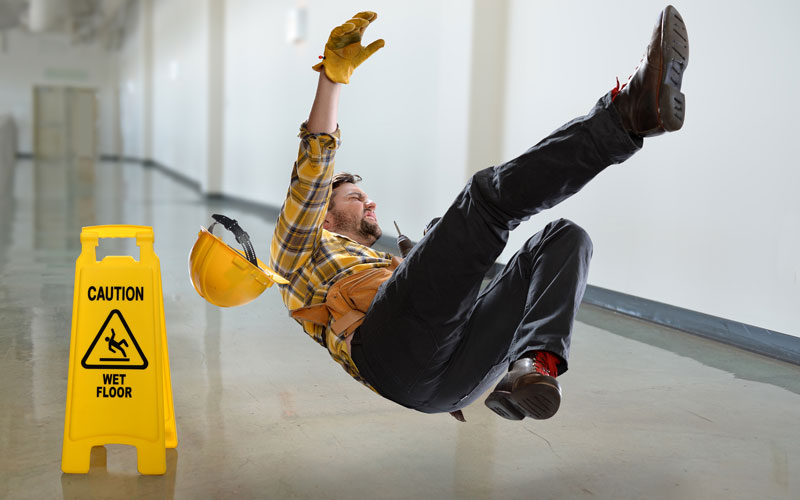 What are OSHA's slip and fall guidelines?